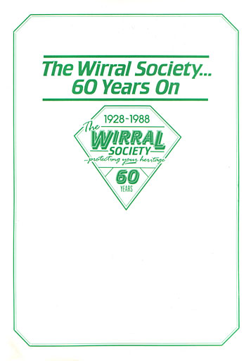 """Wirral Society, 60 Years On"" booklet cover"