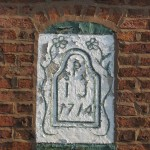 Image of Poplar Farm date stone, Saughall Massie Village