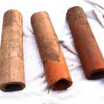 Agricultaral drainage pipes? Thurstaston land-slide