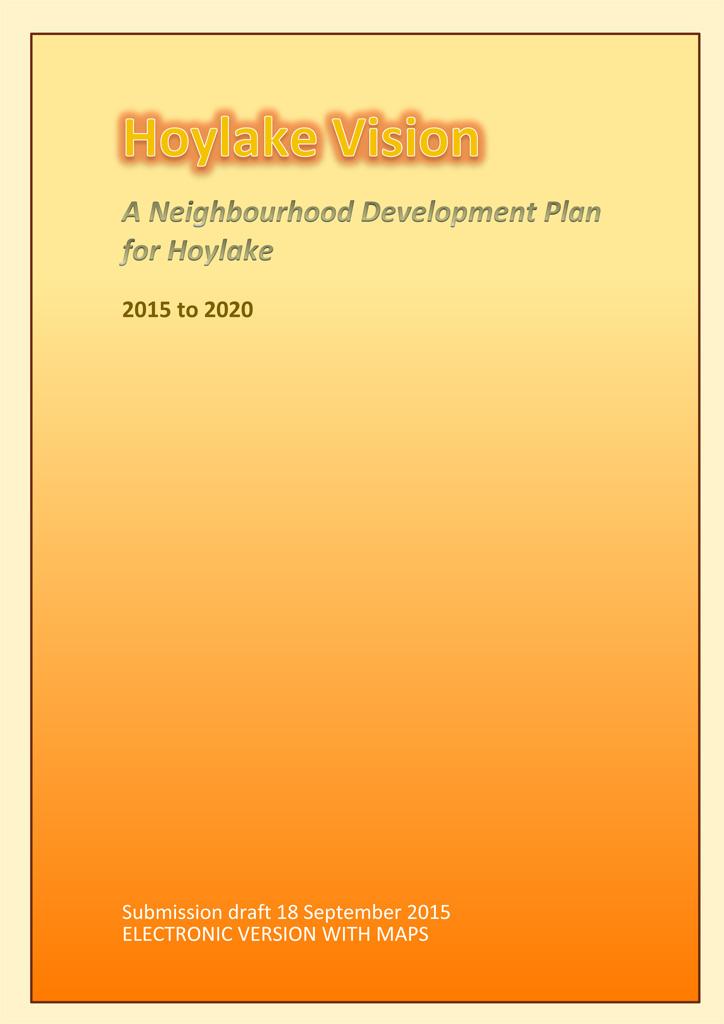 Hoylake Neighbourhood Development Plan Cover