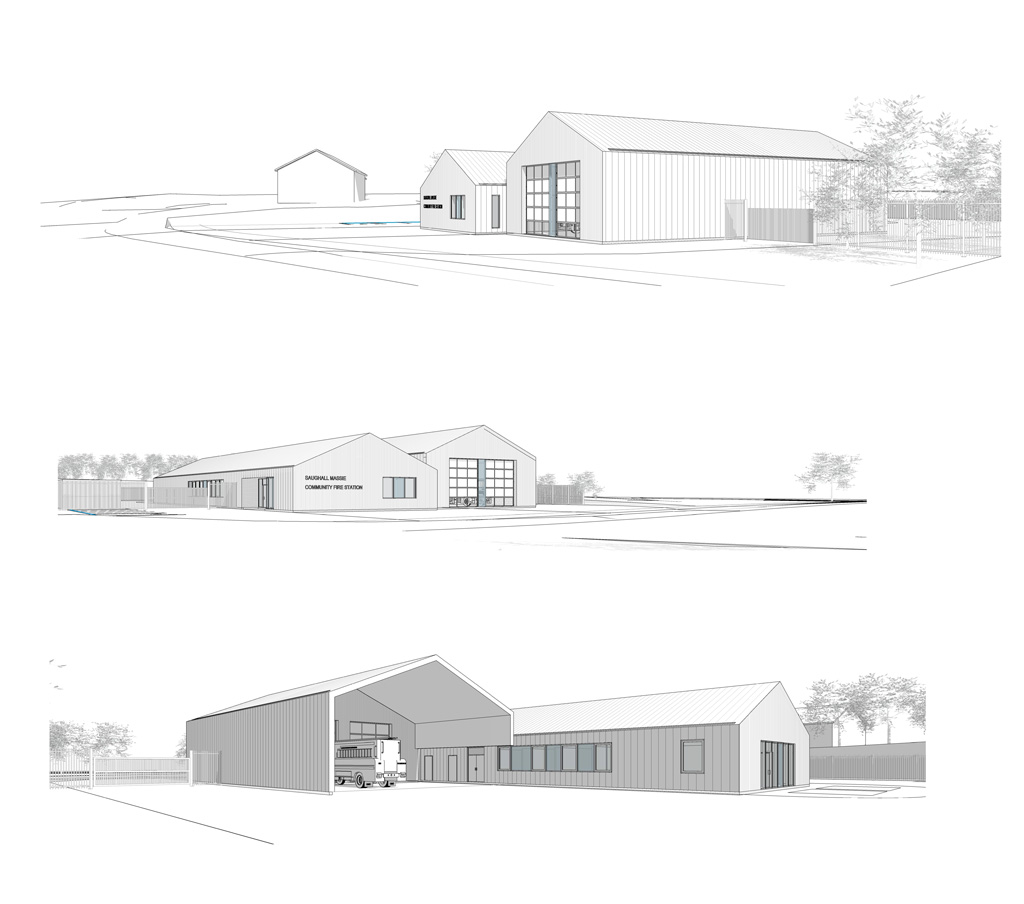 Fire Station at Saughall Massie, proposed drawings