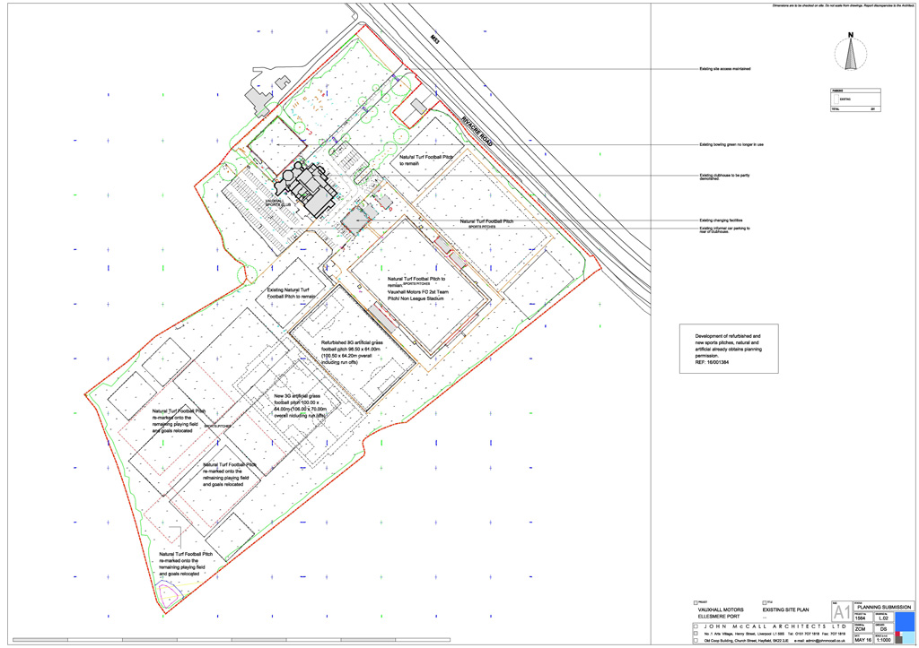 Plans for development at Vauxhall Sports and Social Club, Ellesmere Port