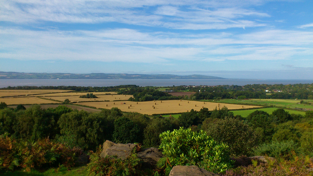 View over the River Dee to the Welsh coast